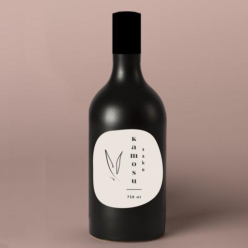 Japanese Sake Label