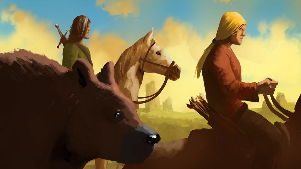 Concept art for Kickstarter publishing campaign