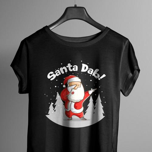 Dabbing Santa- Tshirt Design