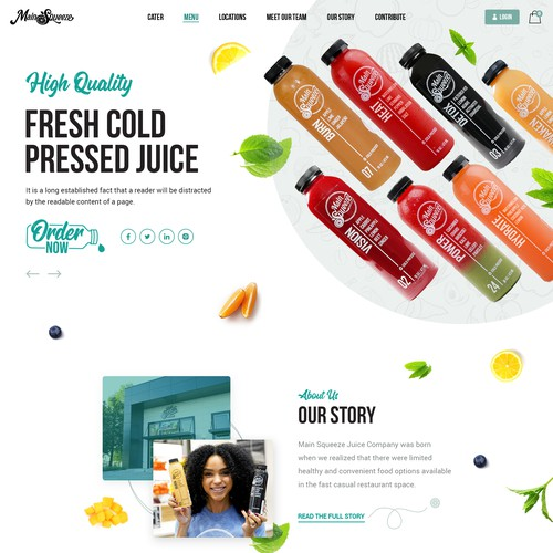 Fresh Juice Website Design