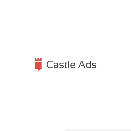 Powerful logo for Castle Ads