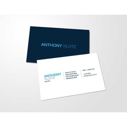 Create a business card for Anthony Klotz