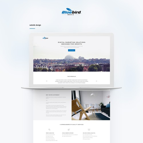 Redesign a financial services website