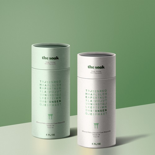 Minimalis Canister Label Packaging Design