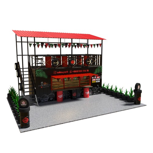exterior Cafe Container design