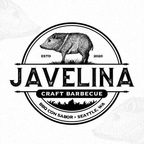 Logo for Javelina Craft Barbecue