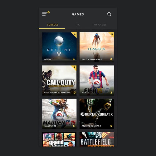 Design a cool UI for Gamers!