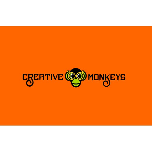 Create the next logo and business card for Creative Monkeys
