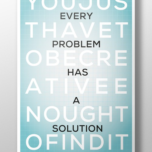 Every problem has a solution poster