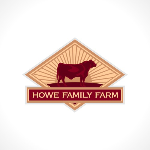 Create a high impact logo for Howe Family Farm