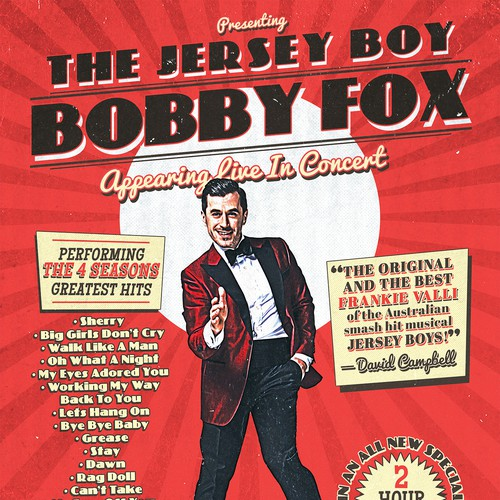 Bobby Fox Concert Tour Poster