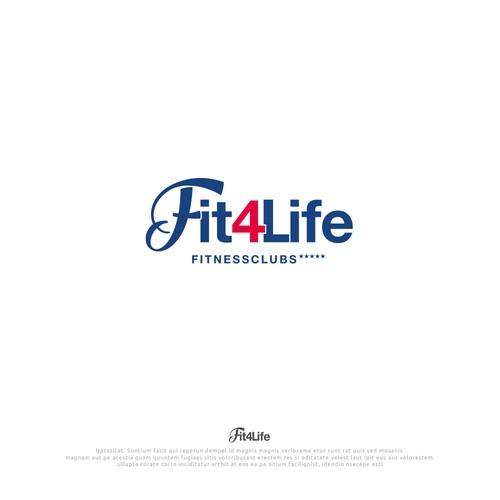 "Logo design ""Fit4Life"" Fitnesscubs"