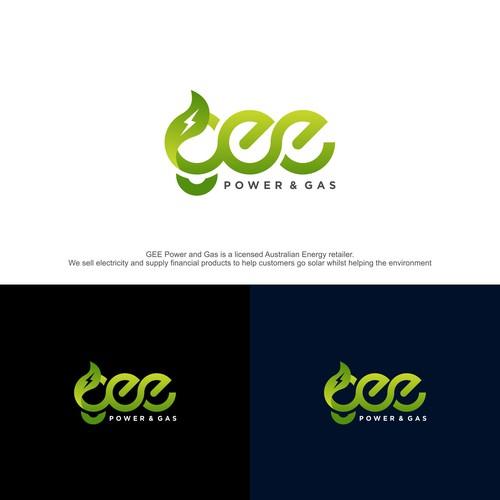 Power and gas logo design