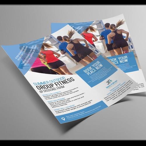 Outdoor fitness flyer