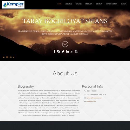 Biography Website Design