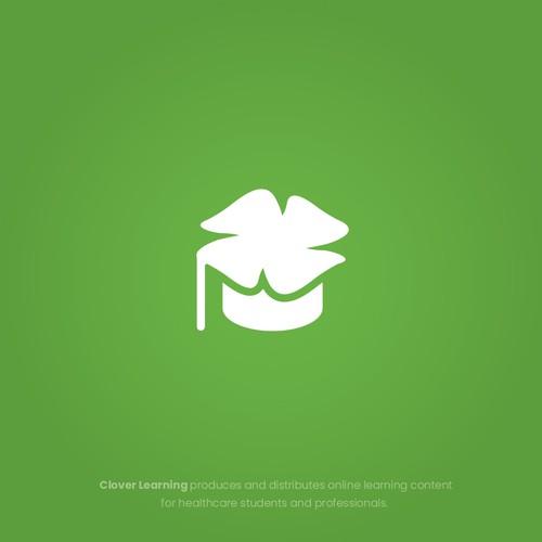 Clean Modern Logo Design for Clover Learning