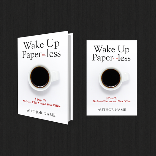 Winner - Wake Up Paper-Less Book Cover Design Title