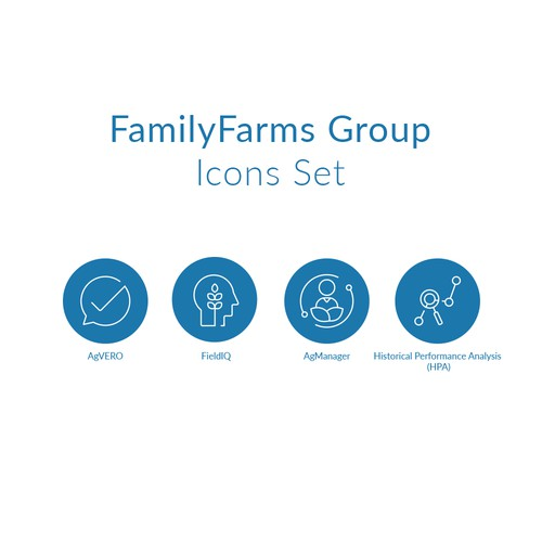 Icon Set for Family Farm Groups
