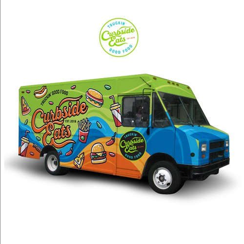 Food truck wrap design concept