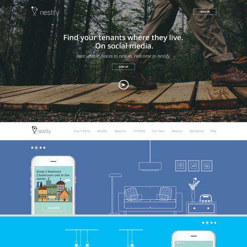 Nestify-Accommodation through Social Media