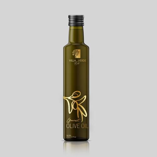 Modern Label for for Extra Virgin olive oil