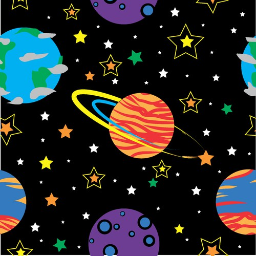 Space theme - repeatable pattern