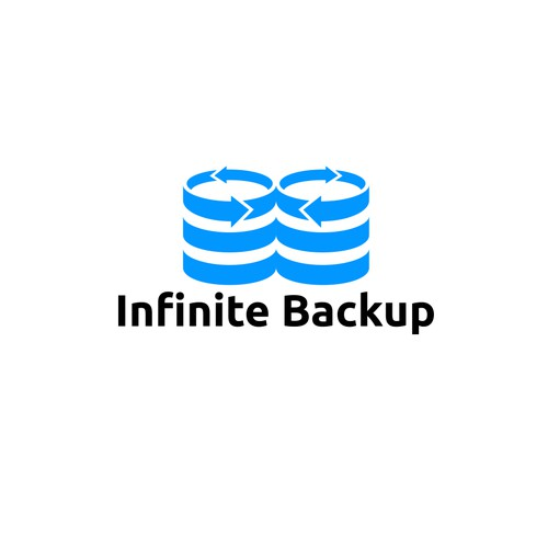 design a hipster logo for Infinite Backup App.