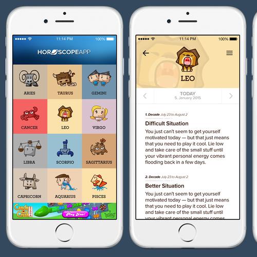 Horoscope App Design