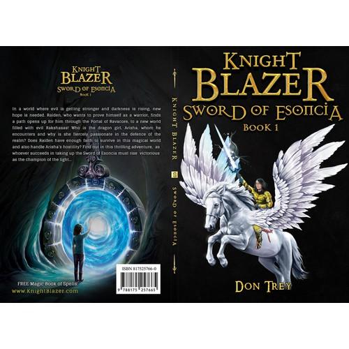 Fantasy, action, adventure children's book cover