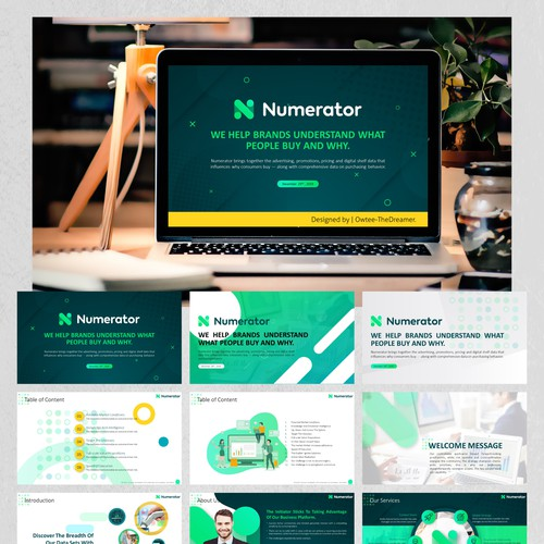 "PowerPoint Design for the ""Numerator"" Project."
