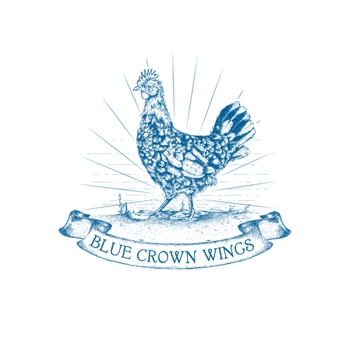 "Logo for ""Wings"" shop"