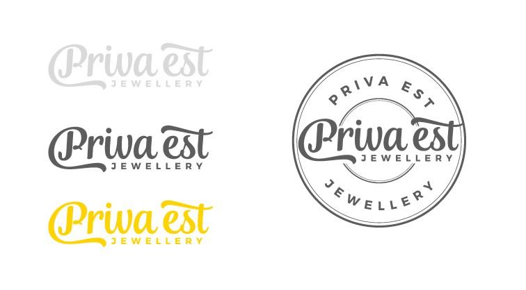 """Jewellery Brand """"PRIVA EST"""" Logo / ジュエリーブランド「PRIVA EST」のロゴ"""