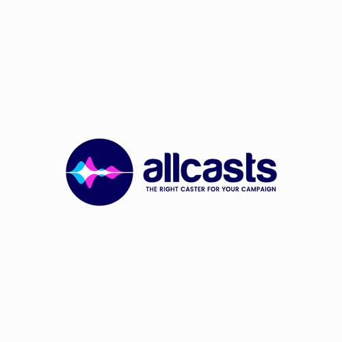 Allcasts Logo Design