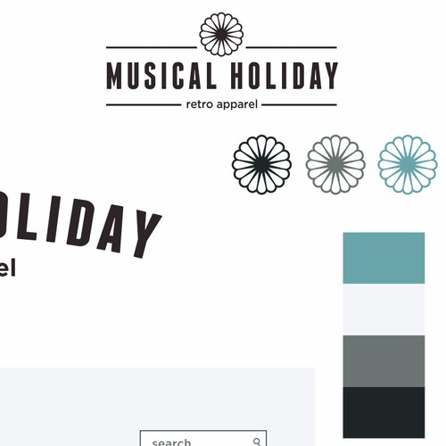 Logo for retro online clothing company