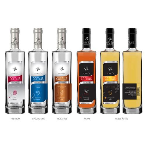 Re-Design Bottle Label for Premium Fruit Brandy
