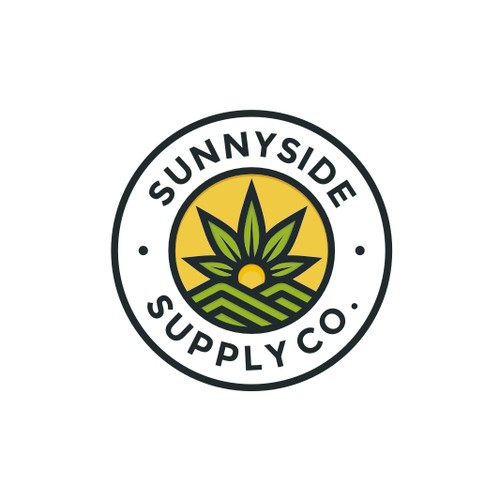 Modern Line-Work Badge Logo for Sunnyside Supply Co.