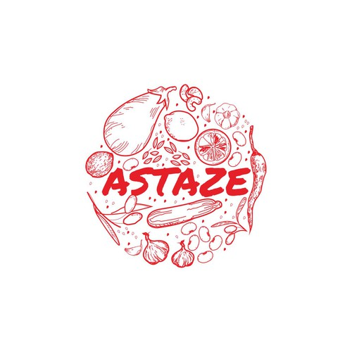 A festive spice logo for lebanese dip
