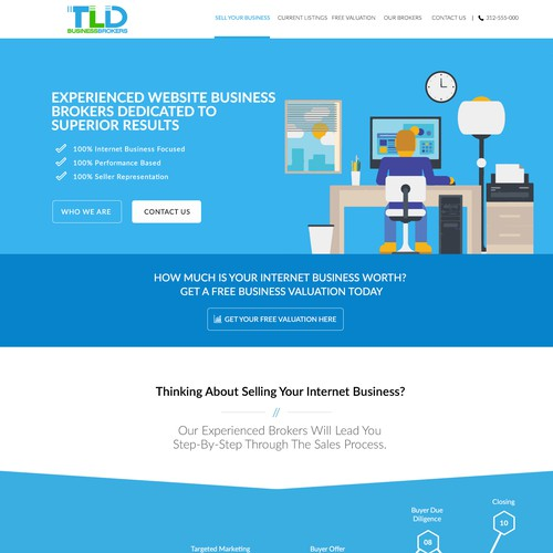 Amazing Homepage Design Needed for Brokers