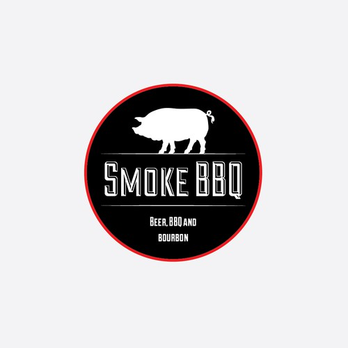 Design a vintage feeling logo for an authentic barbeque restaurant