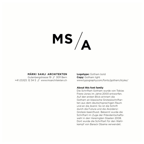 Logokonzept für ein junges Schweizer Architekturbüro
