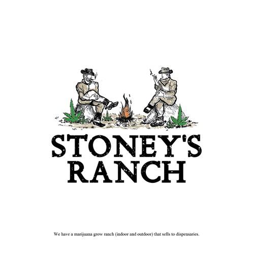 Vintage logo design for Cannabis Ranch