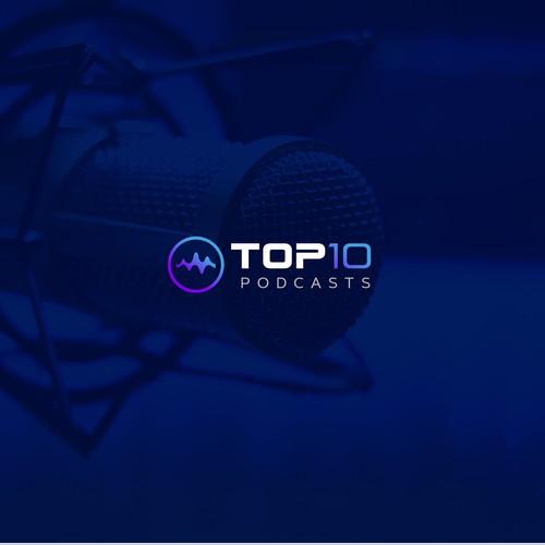 Logo for a podcast company