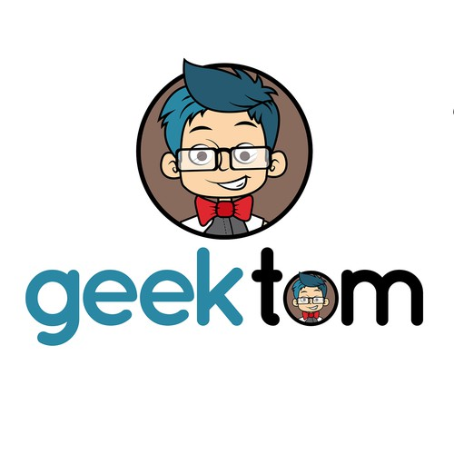 geek boy logo
