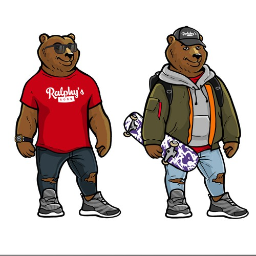 Design a Bear Avatar that will be used for a Graphic Closet Customized T Shirt!