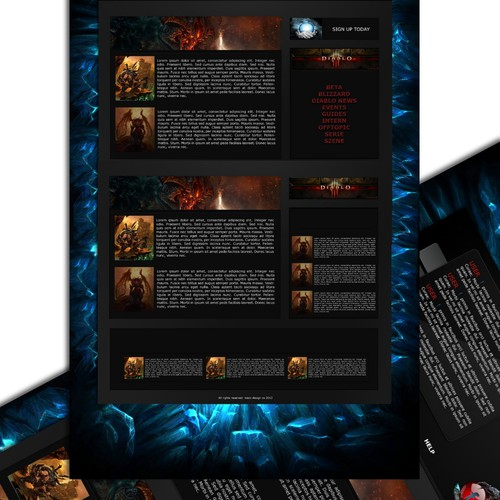 Diablo News and Community needs a new website design