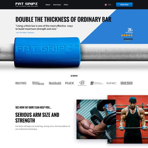 Bold design for a fitness brand