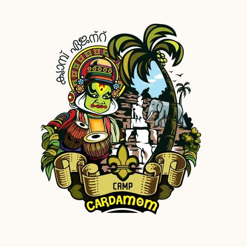 illustrative logo for Camp Cardamom
