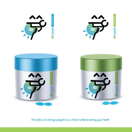 Fun Brushing Teeth Dentist Logo and Packaging