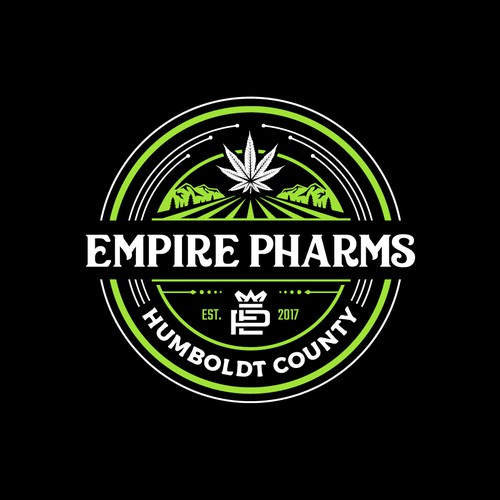A Badge type logo of Empire Pharms