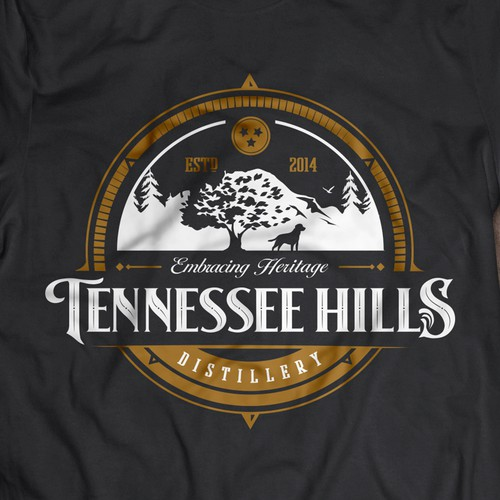 Outdoors themed shirt for Tennessee Hills Distillery